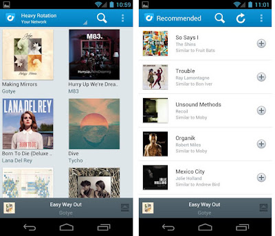 Rdio for Android ICS