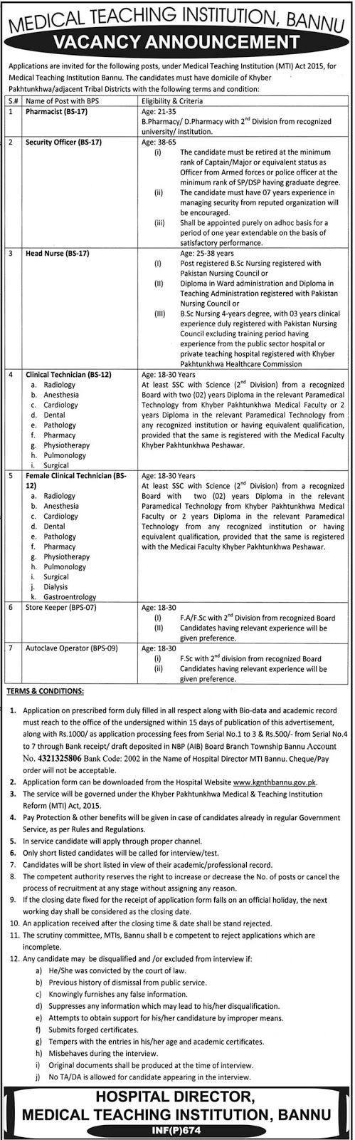 Medical Teaching Institution Jobs