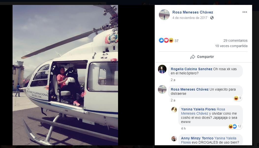 helicoptero - Evo Morales es investigado por pedofilia y delitos públicos