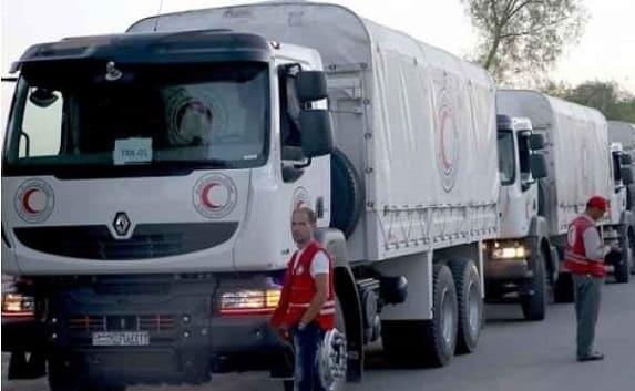 بتسهيلات من الحكومة السورية, إيصال قافلة مساعدات إلى مخيم الركبان