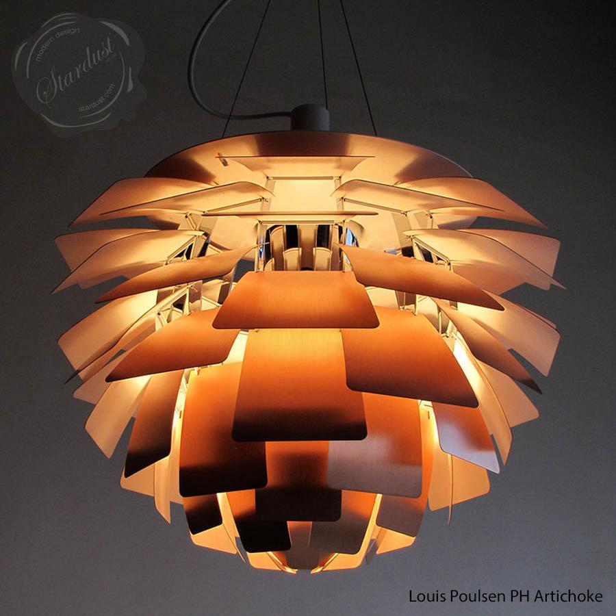 Ph modern light shade artichoke indoor lamp large 1958 brushed ph modern light shade artichoke indoor lamp large 1958 brushed copper aloadofball Image collections