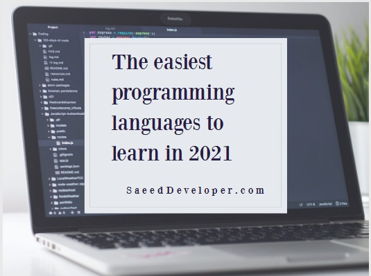 The easiest programming languages ​​to learn in 2021