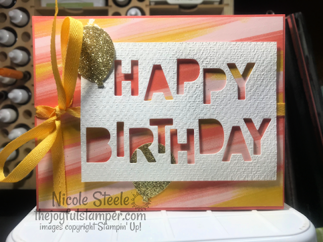 stampin' up!, patterned paper, letter dies, unique ways to use letter dies, paper crafts, stamping, handmade card, how to make cards, how to stamp, birthday card