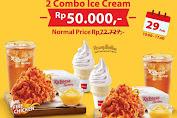 Promo Richeese Factory Special Price 2 Combo Ice Cream Rp.50Ribu Periode 29 Februari 2020