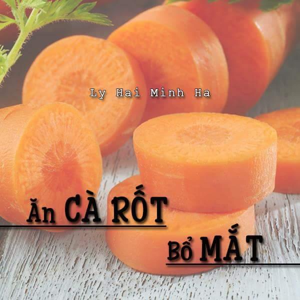 Ăn cà rốt bổ mắt
