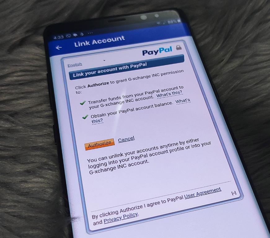 Link PayPal to GCash