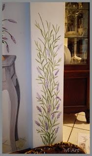 Lavenda na ścianie – Lavender on wall