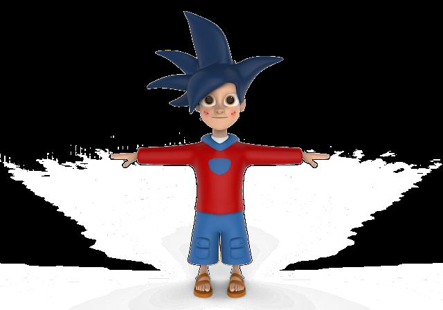 Angry Boy 3D Model Free Download,Obj,Maya,Low Poly Cartoon