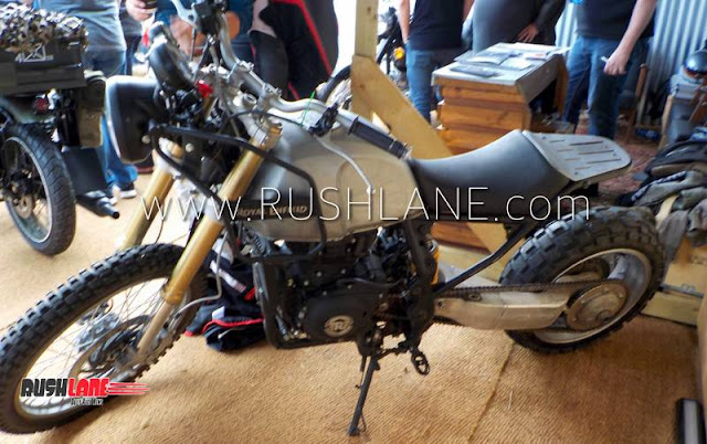 Royal Enfield Himalayan modified into Cruiser