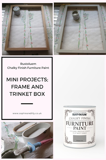 mini-projects using Rustoleum winter grey chalk paint