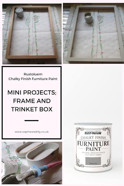 mini-projects using Rustoleum winter grey chalk paint
