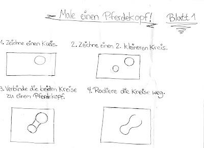 Nele, 10 Jahre alt, erstellt selbst ihre Malanleitung, um einen Pferdekopf zu zeichnen!