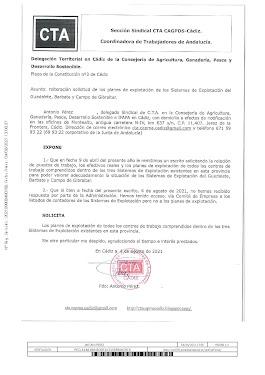 Reiteramos a la Delegación Territorial la solicitud solicitud de los planes de explotación de los Si