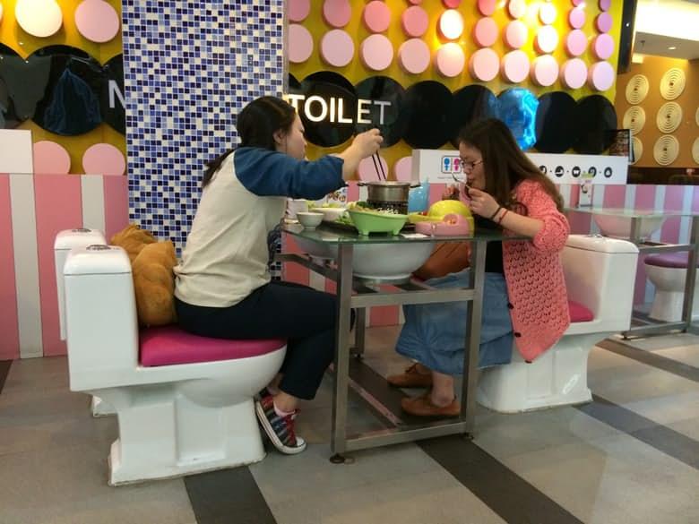 Modern Tuvalet Restoranı Chain Tayvan