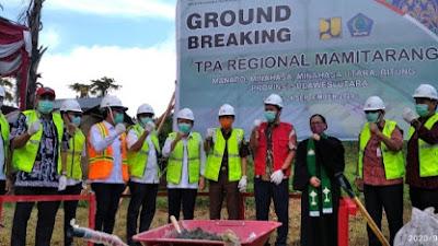 Sukses!!! Peletakan Batu Pertama TPA Regional Mamitarang