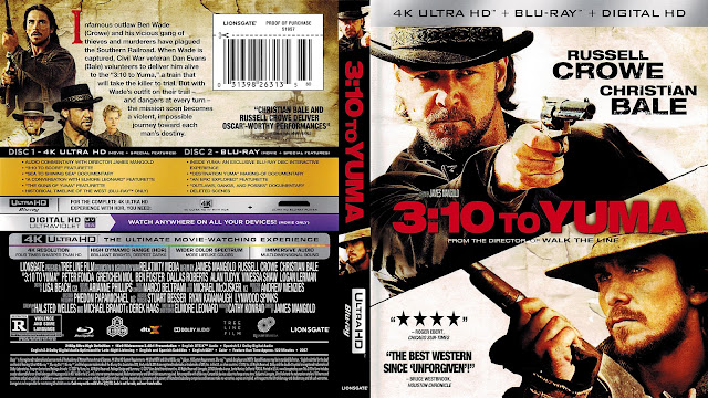 3:10 to Yuma 4k Bluray Cover
