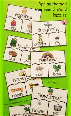 Compound Word classroom activity for Spring theme