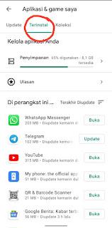 Cara Menghapus Aplikasi Yang Terinstal lewat Play Store