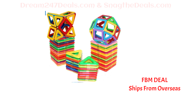 80%OFF E-TOP Magnetic Building Blocks Set Magnetic Tiles Educational Toys 30 PCS