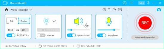 تحميل برنامج تسجيل الشاشة صوت وصورة RecordAnyVid