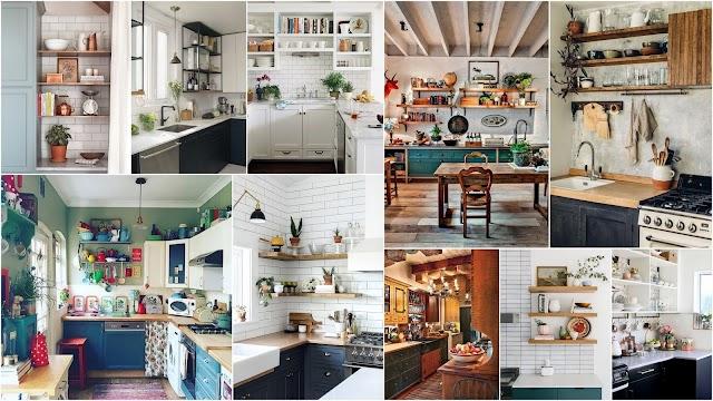Διαμορφώσεις Κουζίνας με ανοιχτά ντουλάπια - ράφια