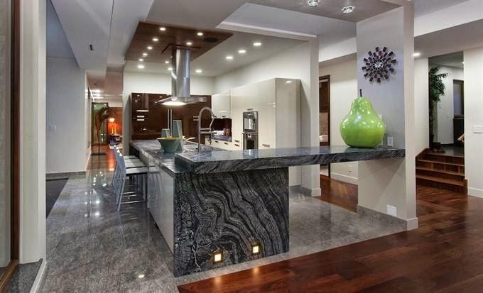 Encimeras de cocina granito o cuarzo cocinas con for Colores de granito para encimeras de cocina
