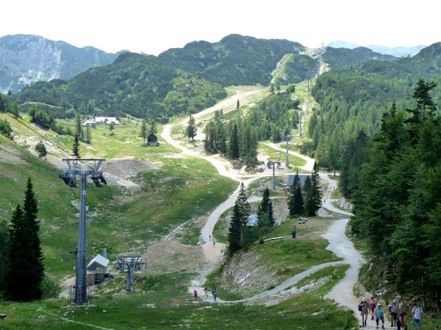 Foto de la Estación de esquí de Vogel en verano. Ruta en autocaravana por Eslovenia | caravaneros.com