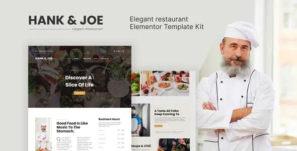 Best Elegant Restaurant Elementor Template Kit