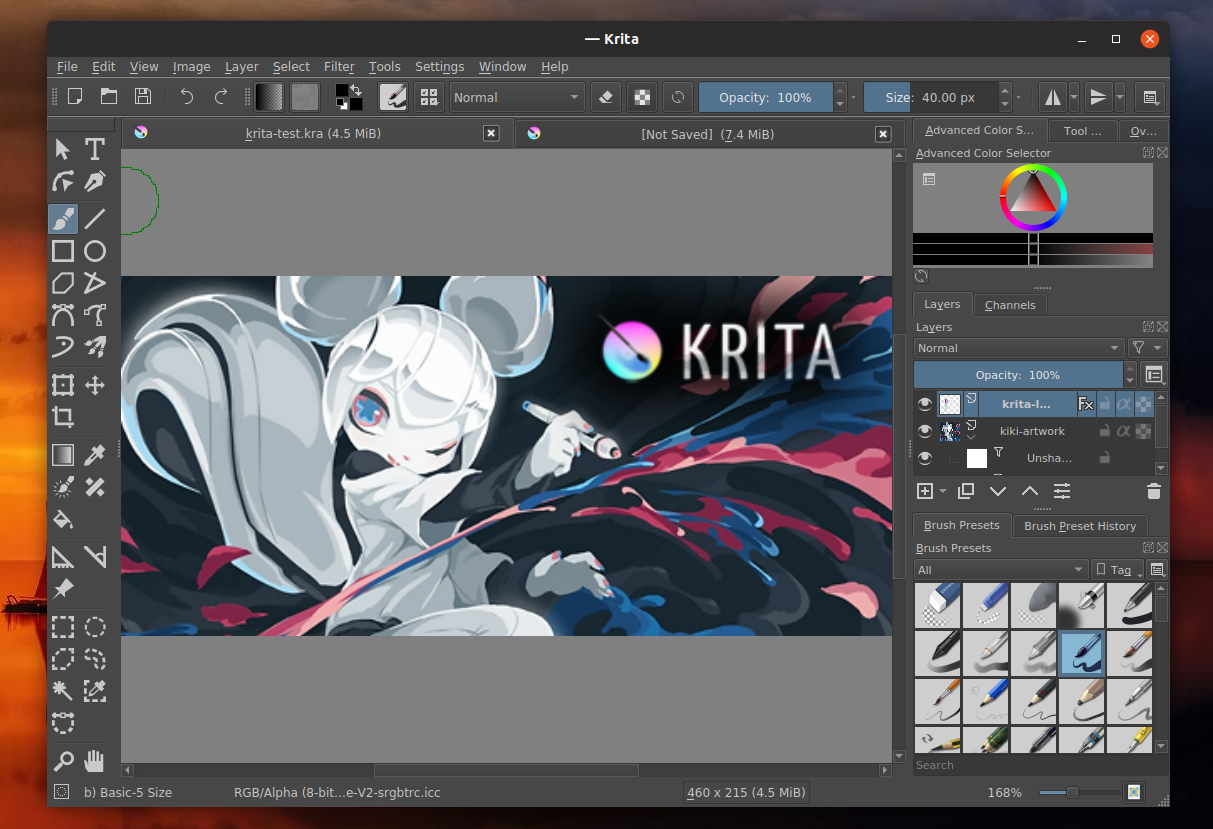 Free Raster Graphics Editor Krita 4 2 0 Released With