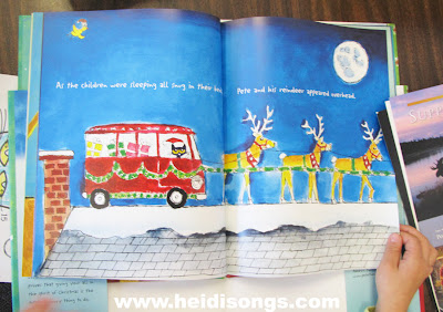 and even though pete is small he helps santa out by delivering presents when santa gets sick on christmas eve he just has the reindeer pull his vw - Pete The Cat Saves Christmas