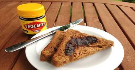 Roti Panggang dengan Vegemite dari Australia