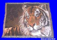 tiger face blanket throw tapestry