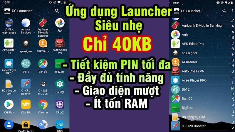 Ứng dụng Launcher siêu nhẹ chỉ 40KB cho Android » Tiết kiệm pin, Giao diện mượt & Ít tốn RAM