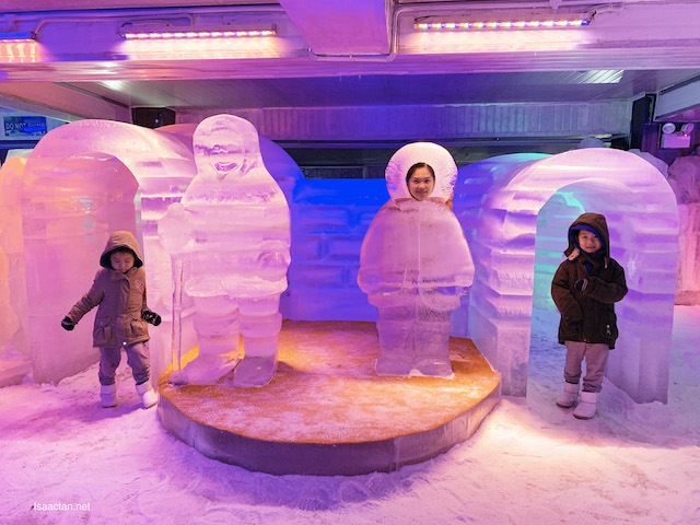 We got to play and enter these large igloos