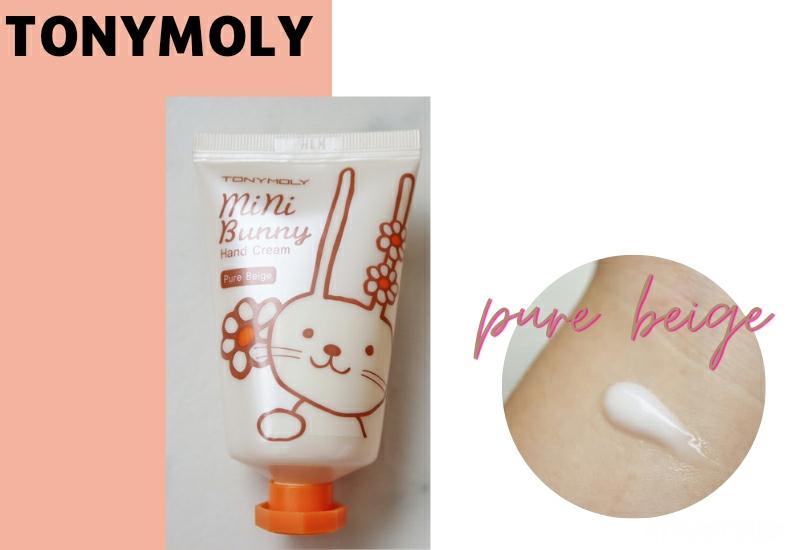TONYMOLY mini bunny hand cream pure beige review