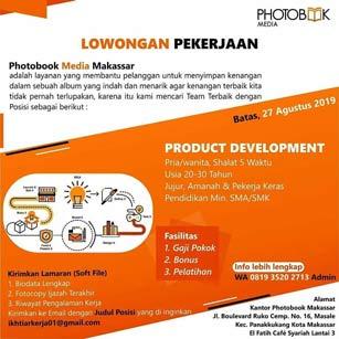 Lowongan Kerja Product Development di Photobook Media Makassar