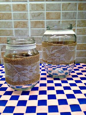 DIY διακόσμηση βάζων & μπουκαλιών