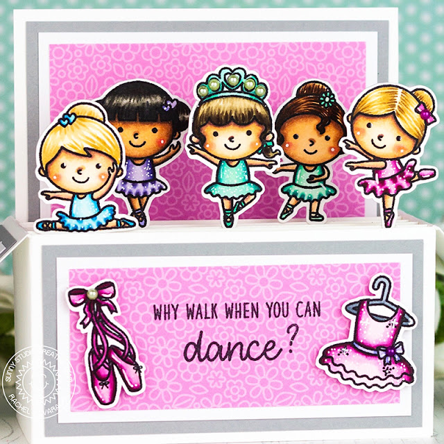 Sunny Studio Stamps: Tiny Dancers Box Card by Rachel Alvarado