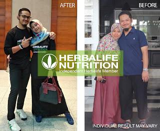 Hasil produk diet Herbalife Coach Bambang & Ria.