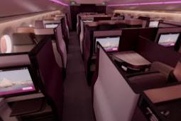 Fitur dan Teknologi canggih di pesawat Qatar airways A350 bisnis class