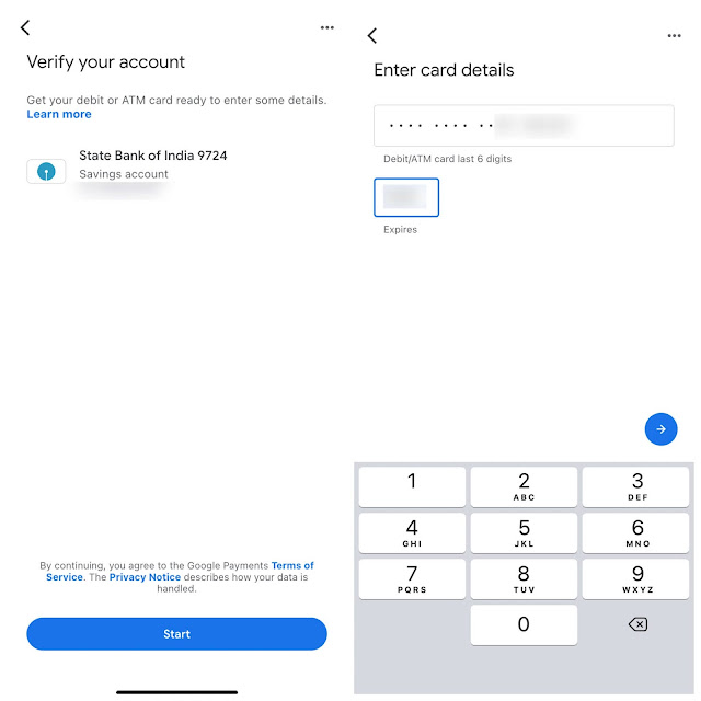 Verify your bank account with credit card details