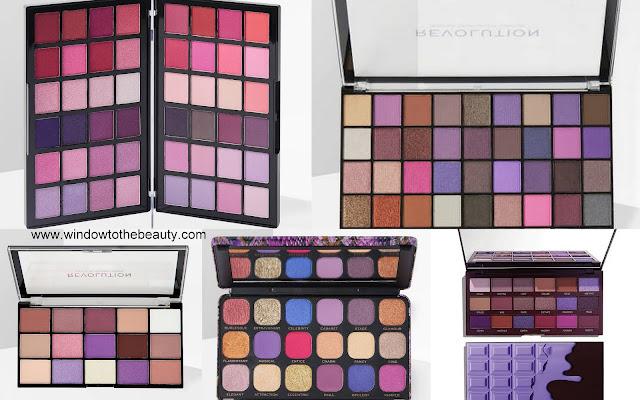 Revolution purple palettes