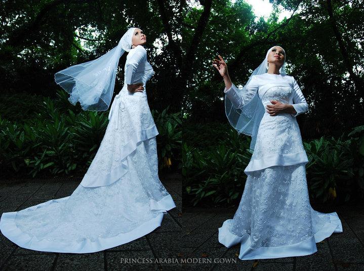 20 Simple Yet Beautiful Wedding Dresses For Modern Brides: Aetos Halwende: Muslim Wedding Dress