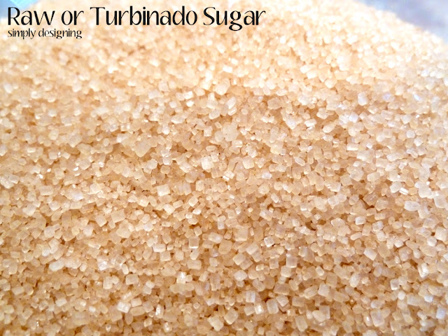 close up photo Raw Sugar also know as turbinado sugar