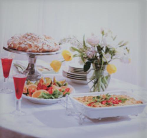 Gingered Strawberry-Rhubarb Mimosas