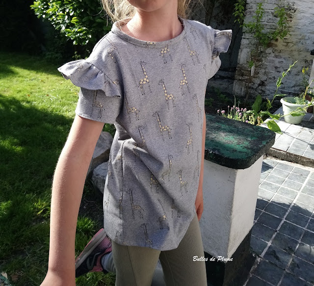 Bulles de Plume - tee shirt couture facile