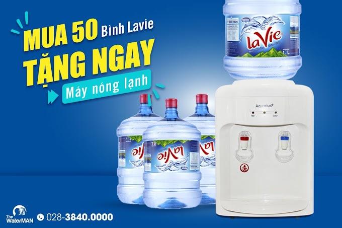 Mua 50 bình Lavie - Tặng ngay máy nóng lạnh