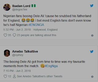 Why We Booed Dele Alli – Nigerian Football Lovers