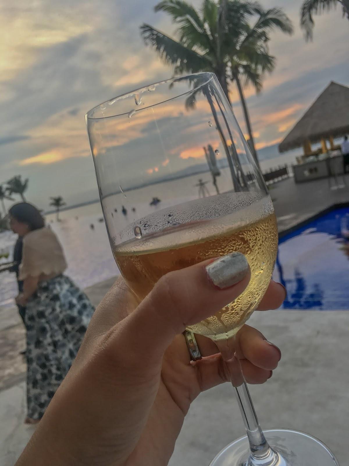 Dusit Thani Mactan view and champaigne