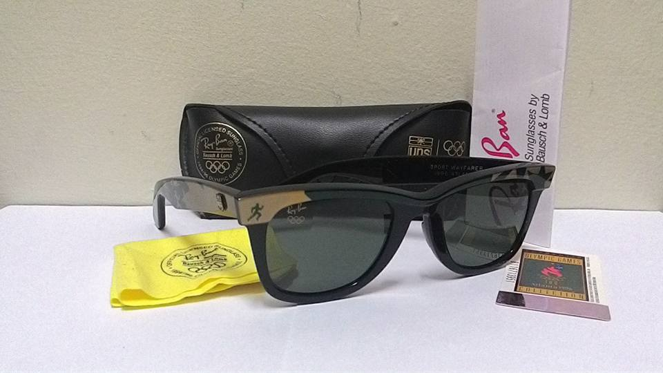 df45a51d6c3 Frame Wayfarer Olympic UPS Edition Atlanta 1996 - Cermin G-15 bersaiz 50mm  atau medium - Condition   Cat. 9.5 10 - Kain pengelap serta softcase  original ...